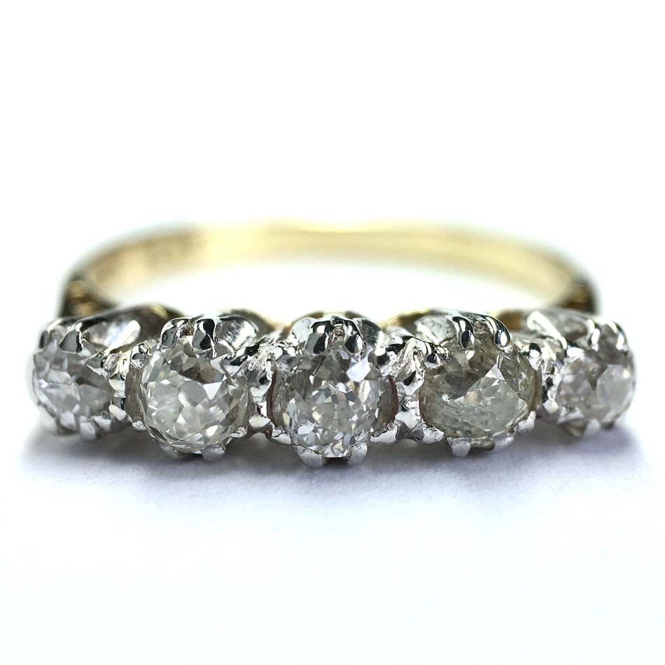 antique%20diamond%205%20stone%20ring%20with%20platinum%20settings.jpg